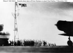 Japanese Torpedo plane taking off h50603