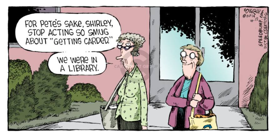 getting carded in a library