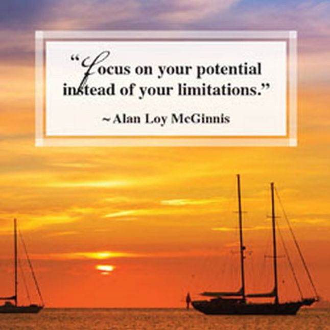 Alan Loy McGinnis on potential