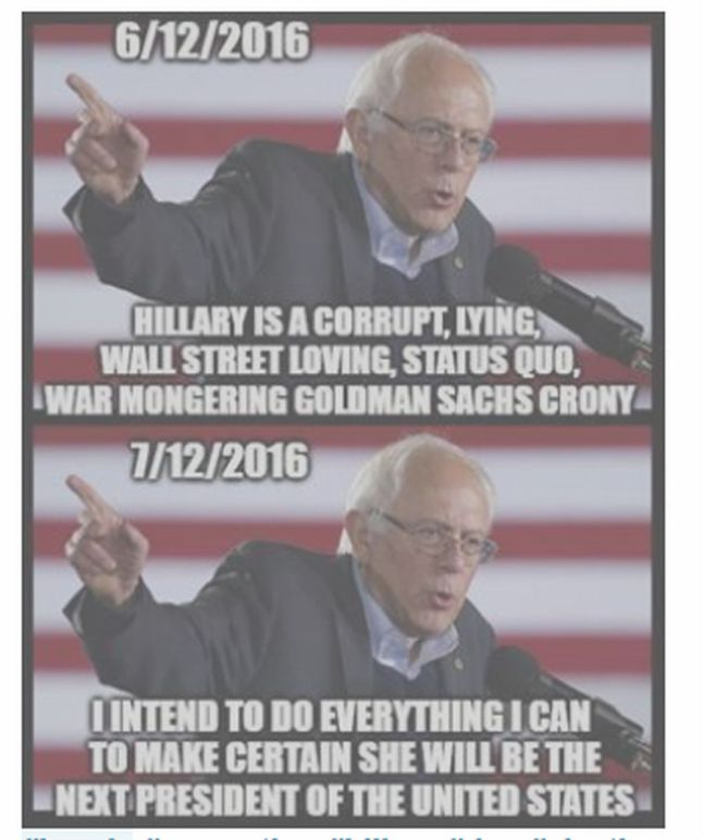 Bernie on Hillary